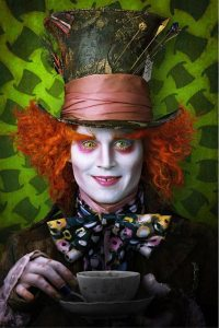 If you haven't already seen this picture, here is Johnny Depp in full Mad Hatter gear. Photo from loyalkng.com.