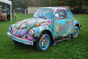 It must have taken quite some time to graffiti this Bug! Photo by Kate Langenburg.