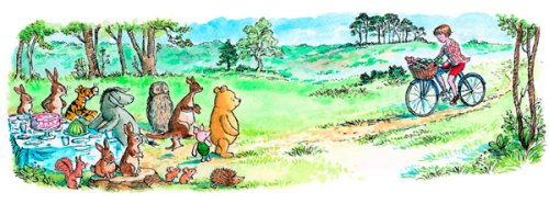 An illustration (by Mark Burgess) from 'Return to the Hundred Acre Wood.' Photo from nytimes.com.